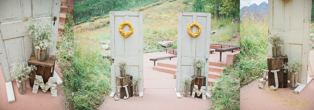 diy ceremony details, maroon bells wedding, co rocky mountain wedding photographer