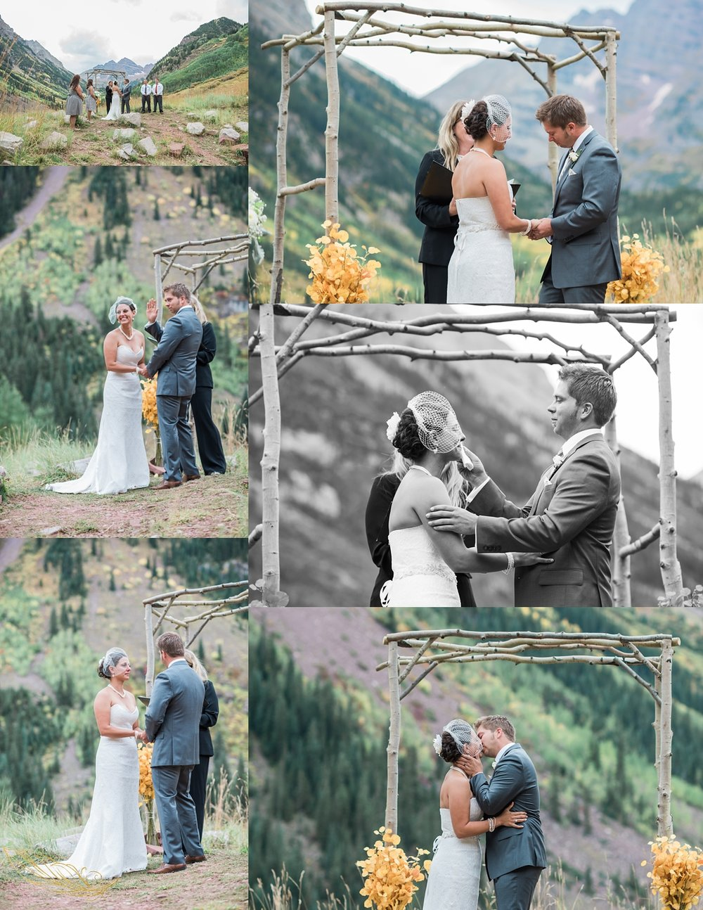 rocky mountain wedding photographer, maroon bells amphitheater wedding, fall wedding in colorado