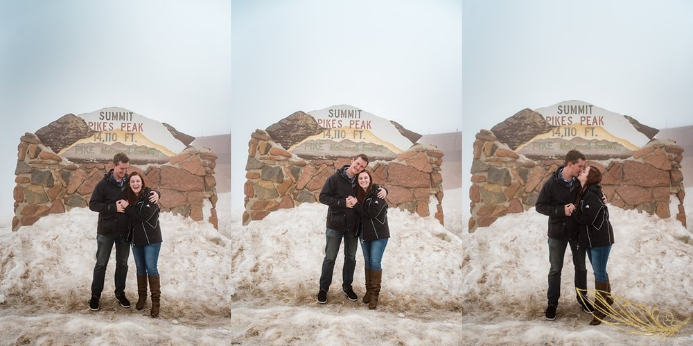 pikes peak engagement, cog railway engagement photography