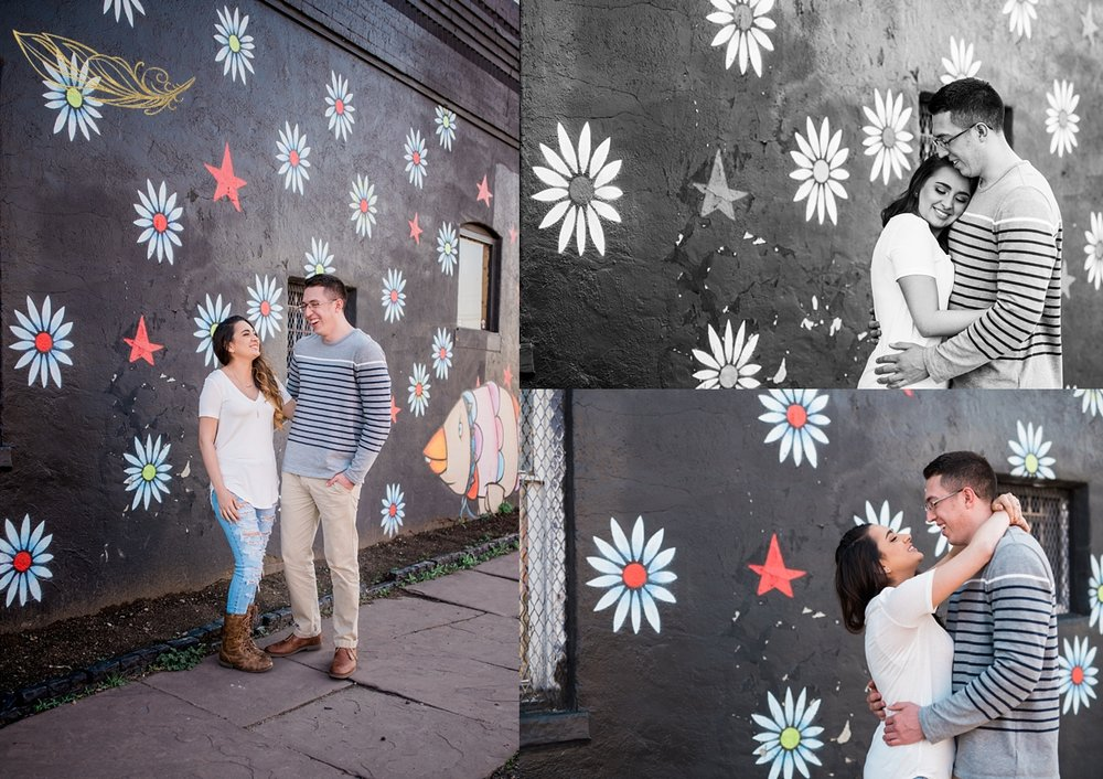 urban engagement photography, rino engagement session, denver wedding photographer