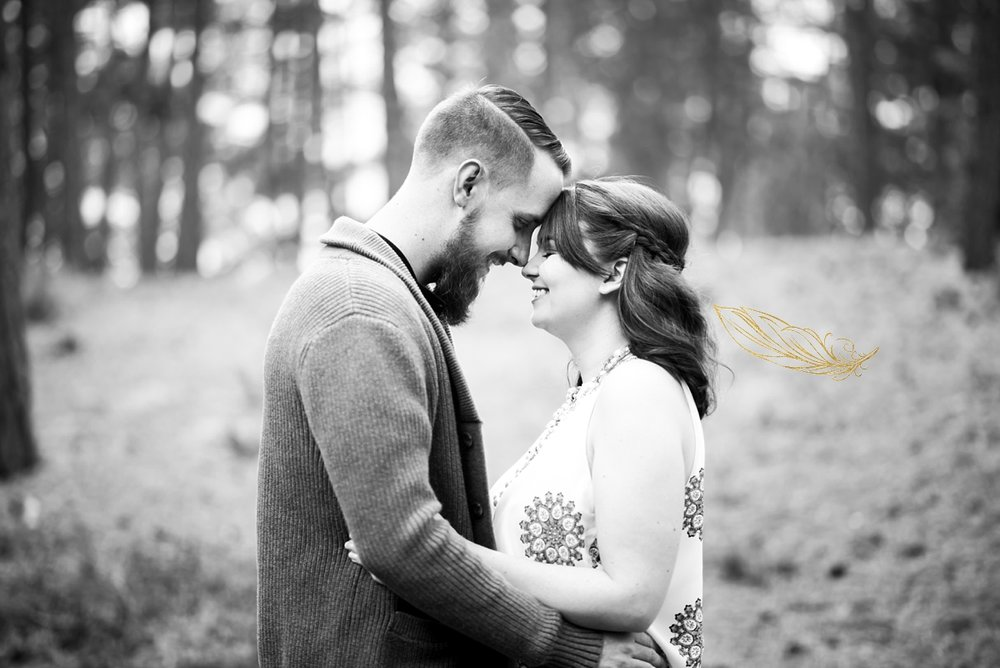 black forest engagement session, central colorado wedding photographer, romantic wedding photography