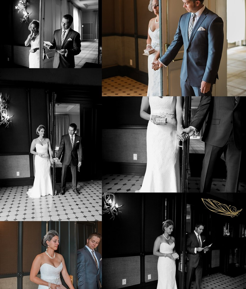 blind first look, aspen wedding photographer, hotel jerome wedding, rocky mountain wedding photographer, denver wedding photographer