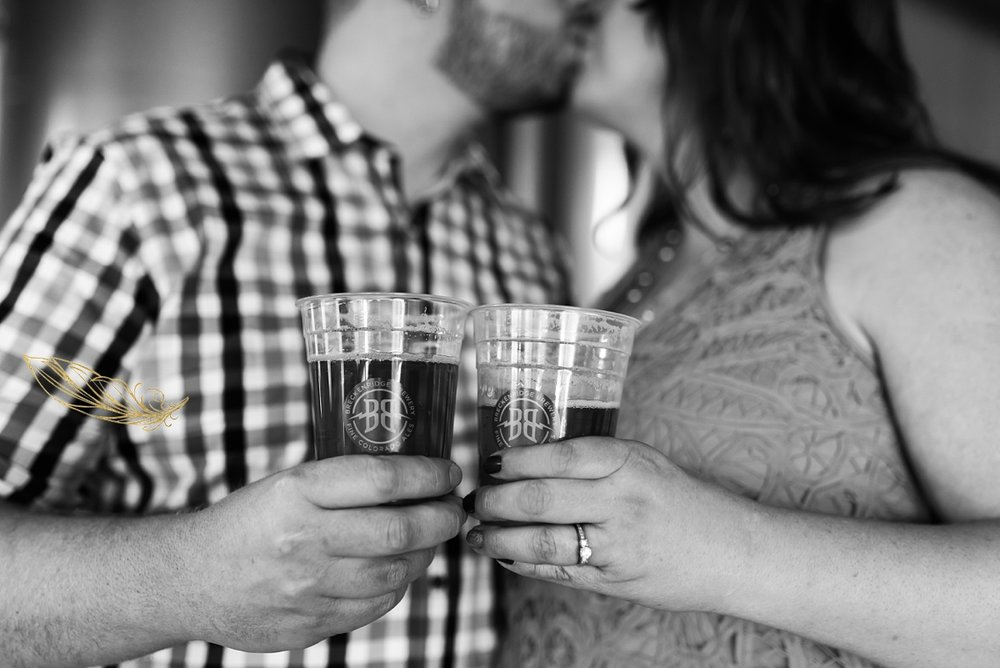 breckenridge brewery engagement session, denver wedding photographer