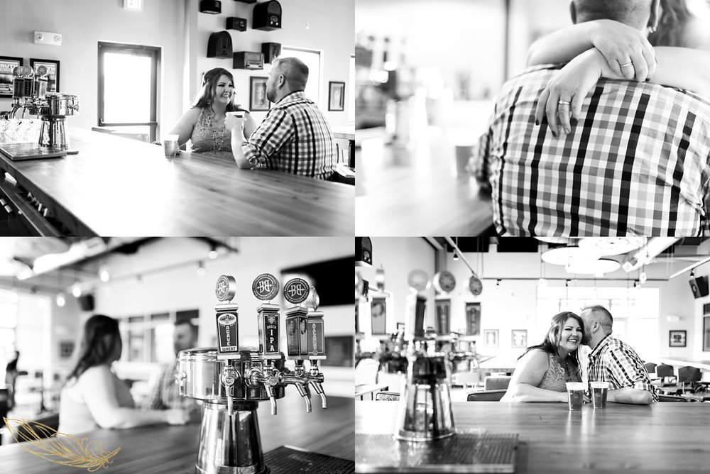 lifestyle engagement session, breckenridge brewery, denver wedding photographer
