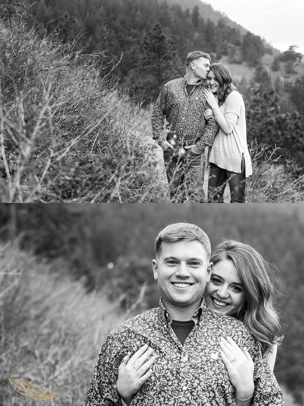 black and white engagement photos, colorado mountain engagement photographer, golden wedding photographer
