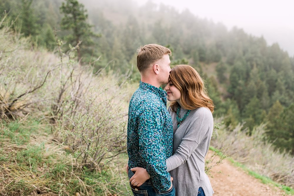 romantic colorado wedding photographer, mountain engagement session,