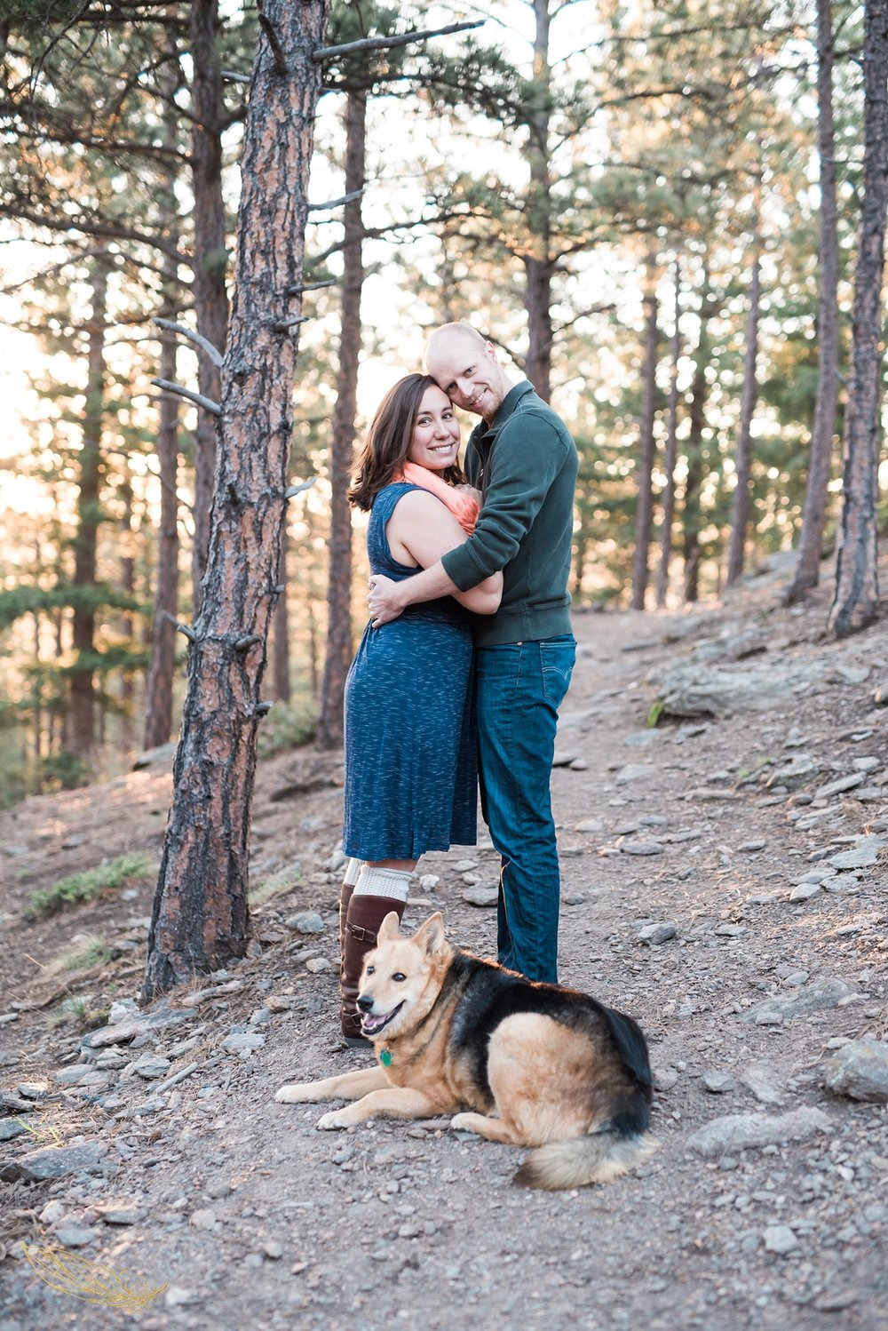 engagement sessions with dogs, denver wedding photographer, colorado mountain wedding photographer