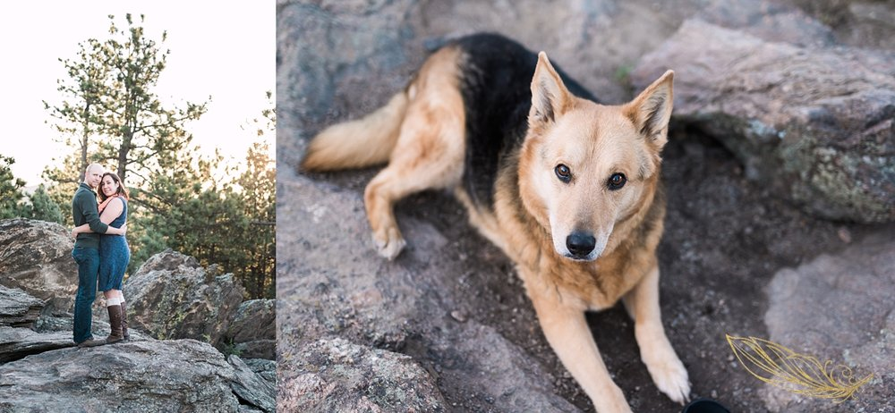 engagement sessions with dogs, colorado wedding photographer, golden wedding photographer