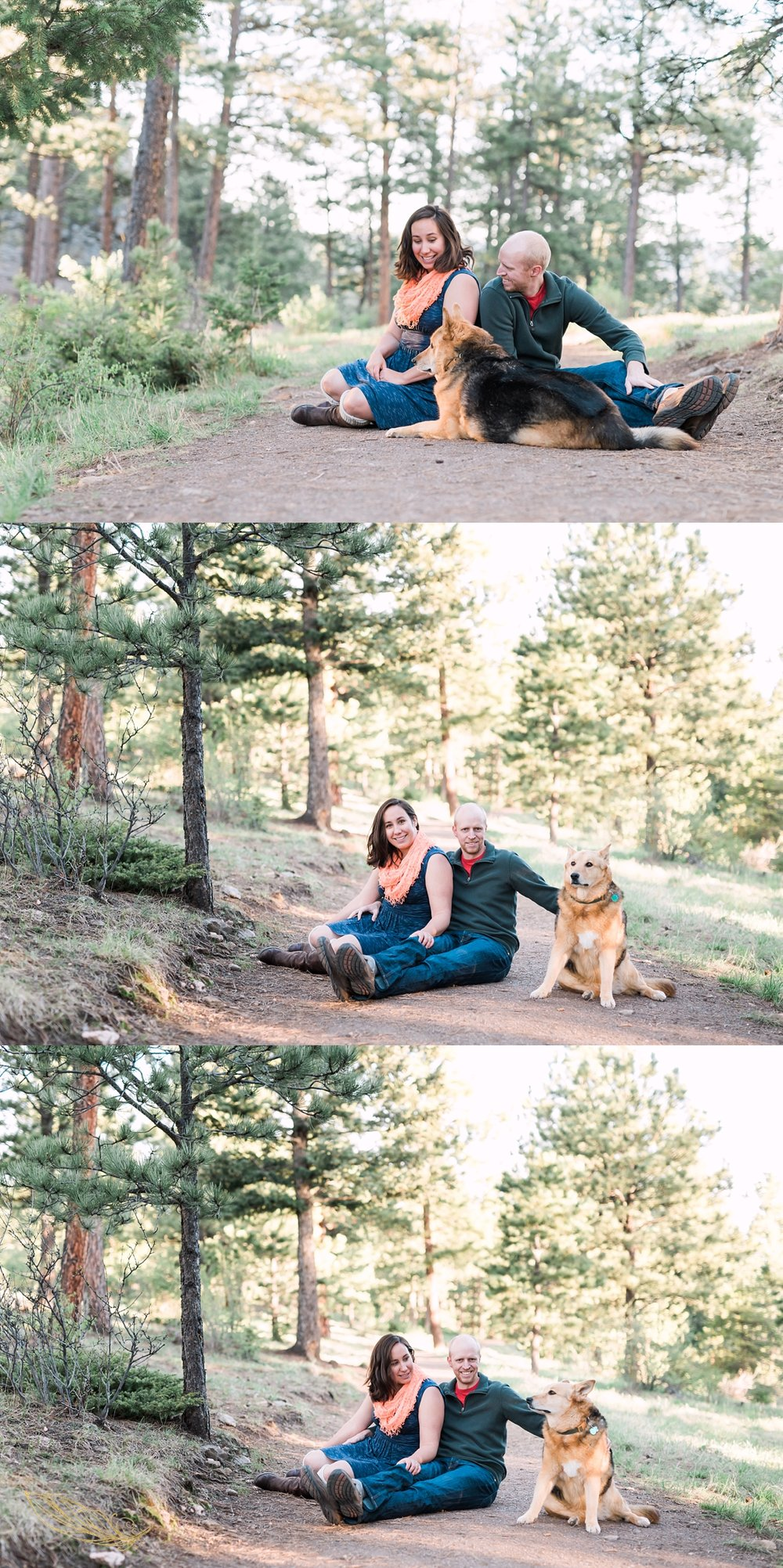 engagement sessions with dogs, denver colorado wedding photographer, mountain weddings, mountain engagements