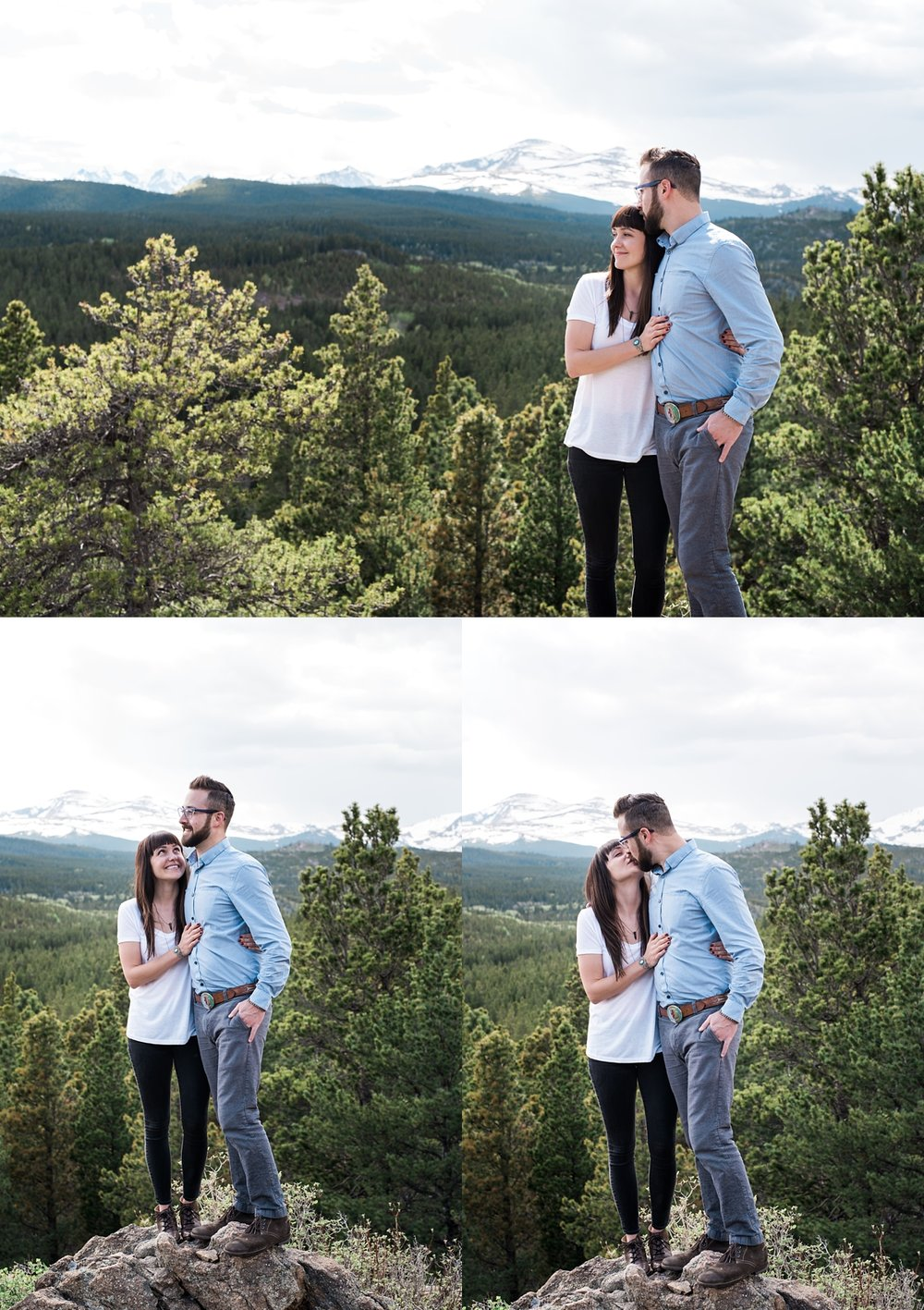 colorado mountain engagement session, colorado mountain wedding photographer, simple engagement session styles