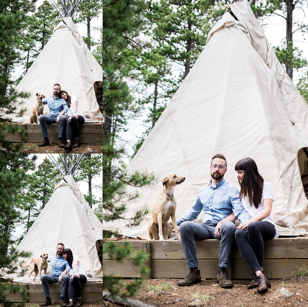 teepee engagement session, unique engagement session, denver wedding photographer, colorado wedding photographer