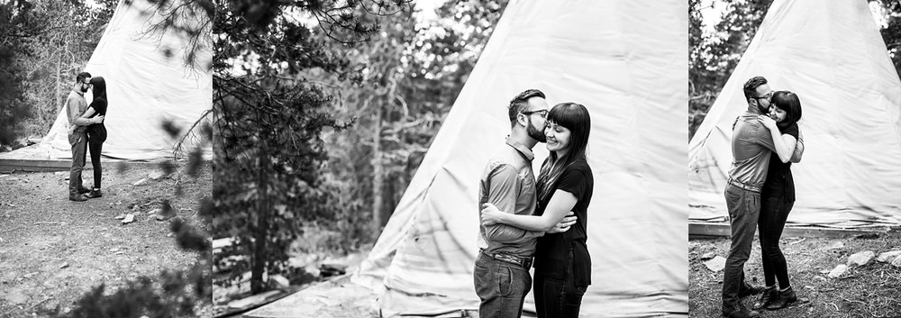 black and white engagement photography, colorado rocky mountain wedding photographer, denver wedding photographer