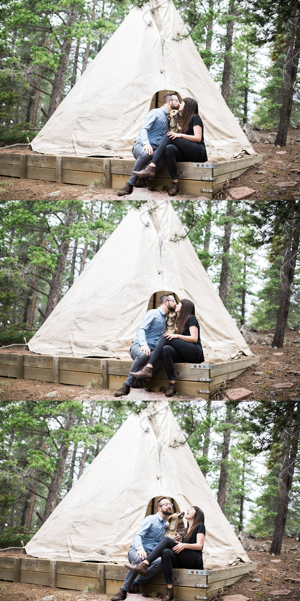 mountain teepee engagement session, denver engagement photographer, mountain wedding photographer