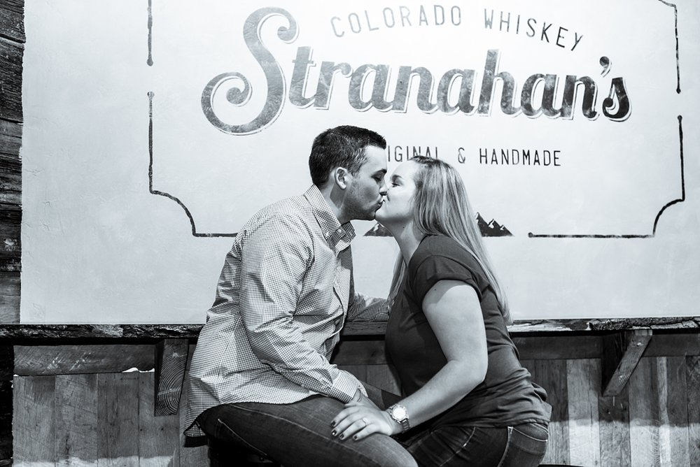 stranahan's distillery engagement session, denver wedding photographer, colorado rocky mountain wedding photographer