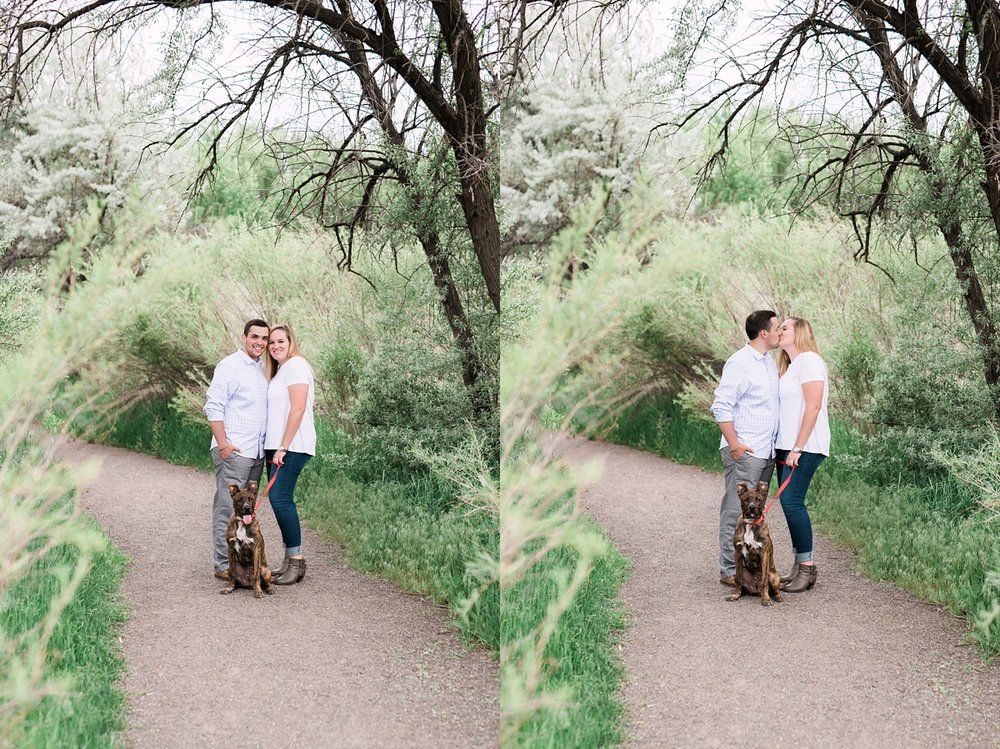 cherry creek state park engagement session, including dogs in engagement sessions, denver wedding photographer