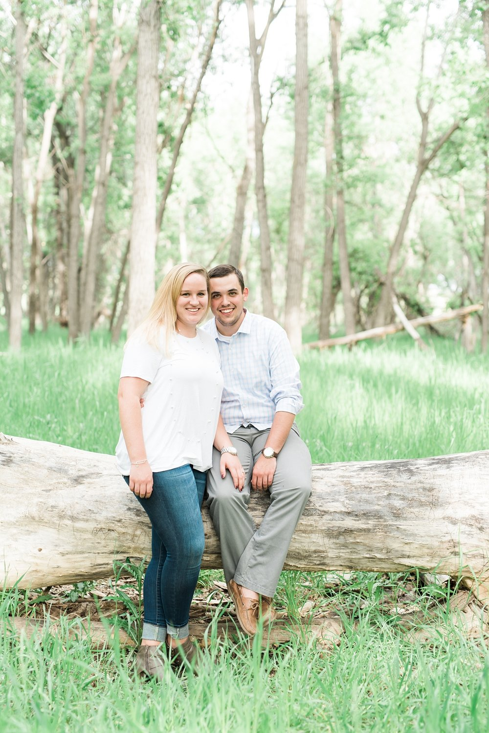 woodsy engagement session, colorado mountain wedding photographer