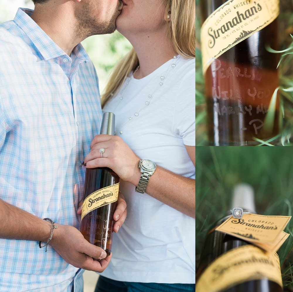 stranahan's whiskey engagement session, denver wedding photographer, colorado mountain wedding photographer