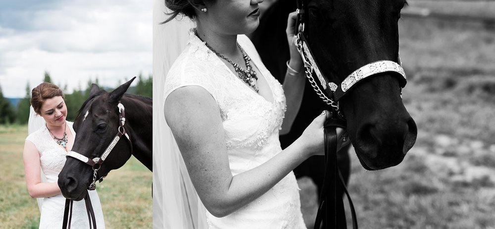 denver-wedding-photographer, country-bride, bridals-with-horse