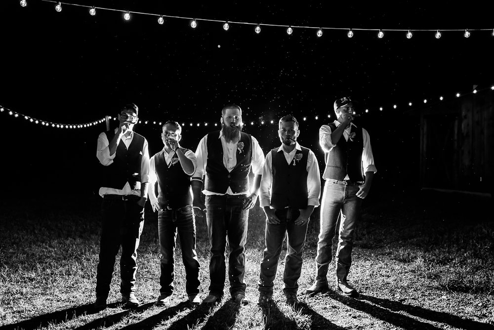 groomsmen, night-portraits, rocky-mtn-wedding-photographer