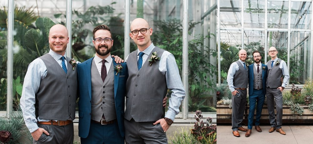 denver-wedding-photographer, groomsmen-photos, denver-botanic-gardens