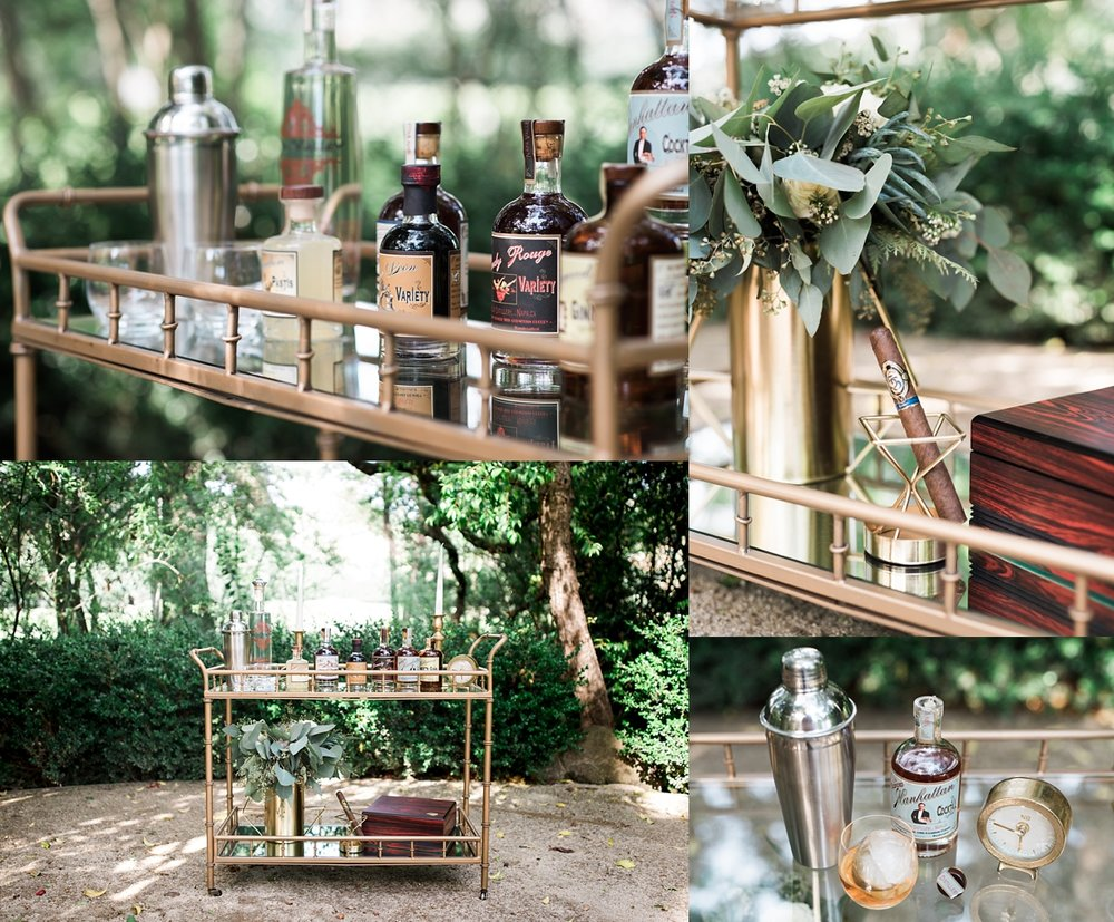 bar-cart, denver-wedding-photographer, gold-and-green-wedding, destination-wedding-photographer