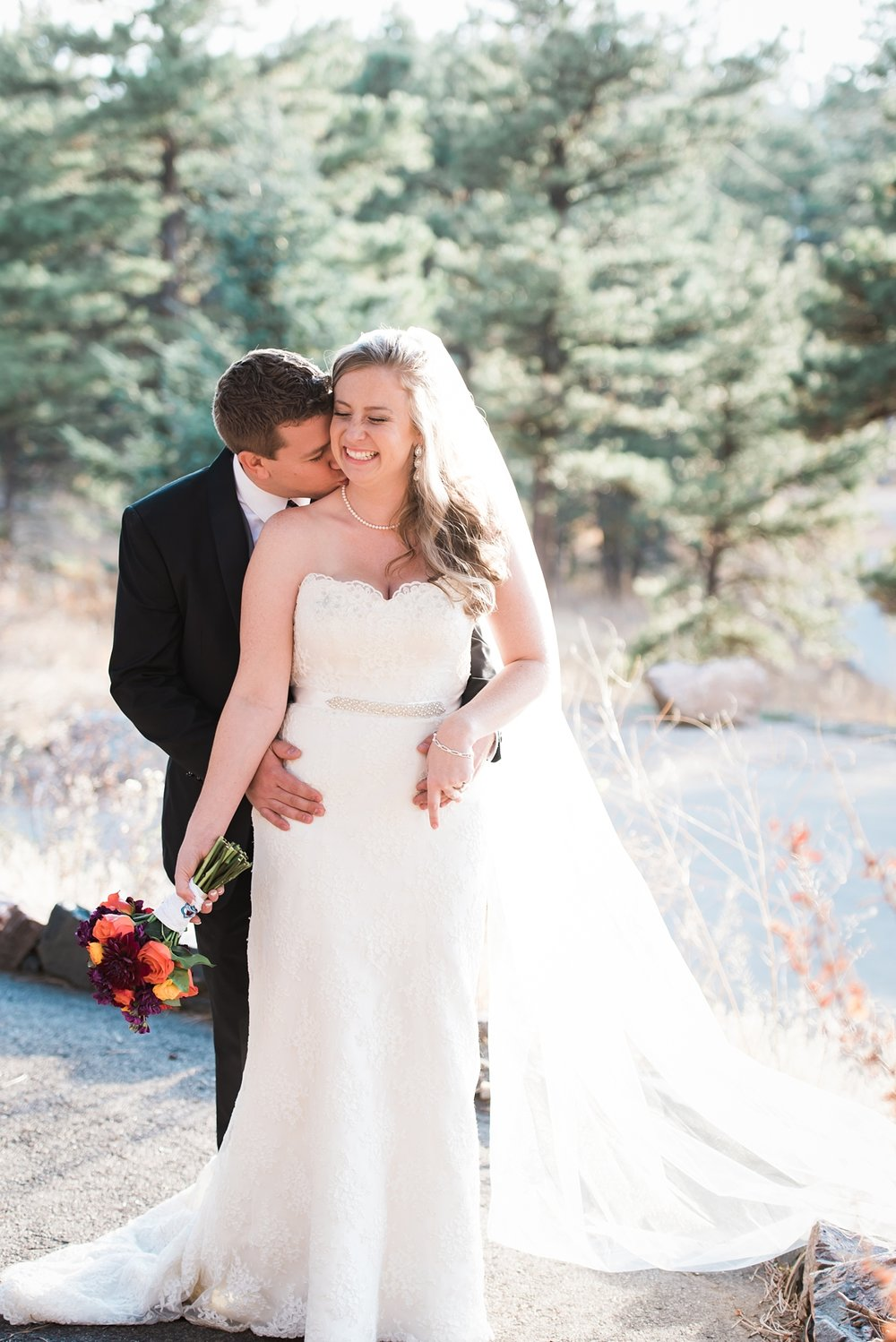 Amanda + James had a beautiful Fall wedding at Chief Hosa Lodge.