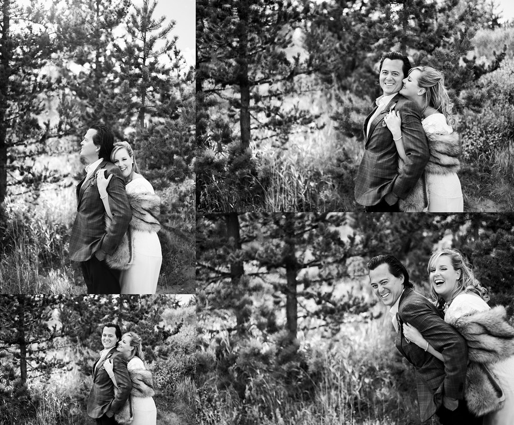 I love when couples are playful together. I really believe that a marriage without laughter would not be much fun!