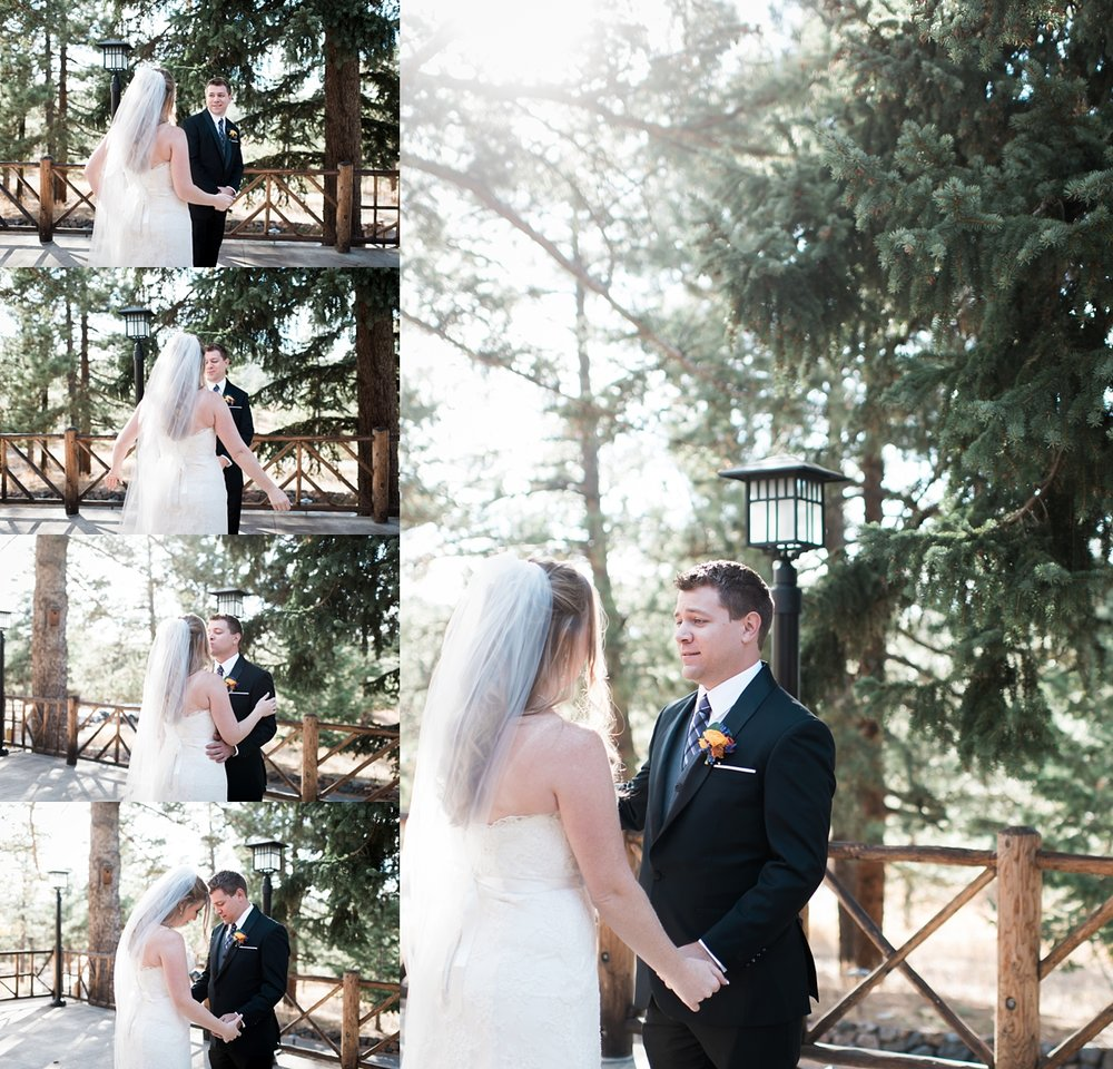 Amanda and James chose to have a first look and it was beautiful. I love the expressions from James!