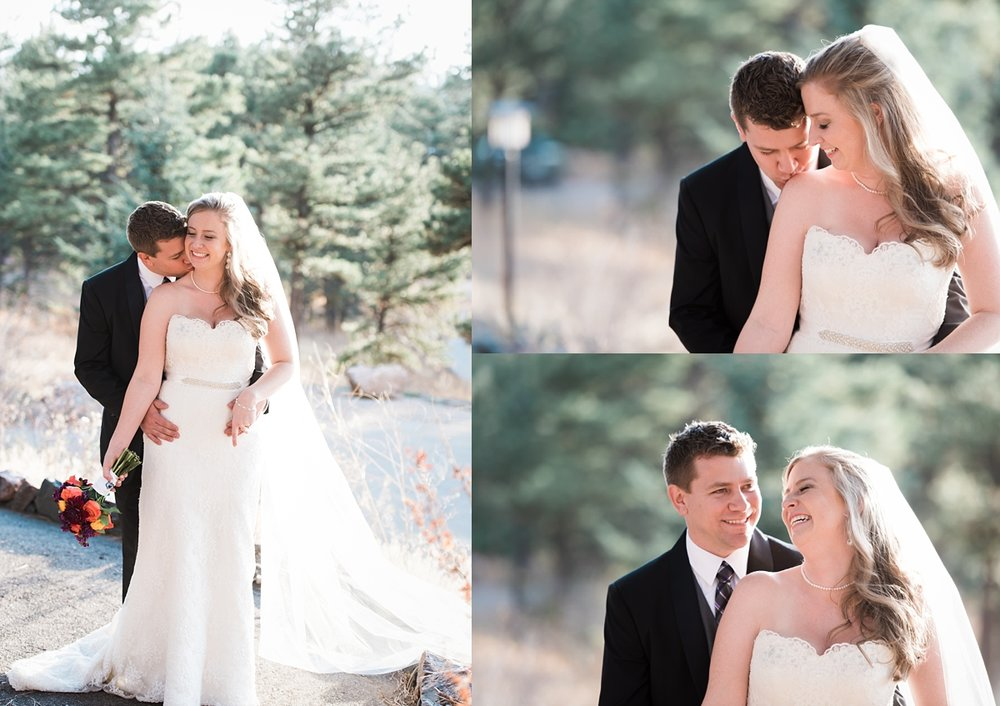 romantic-bride-groom-portraits, denver-area-wedding-photographer, colorado-mountain-wedding