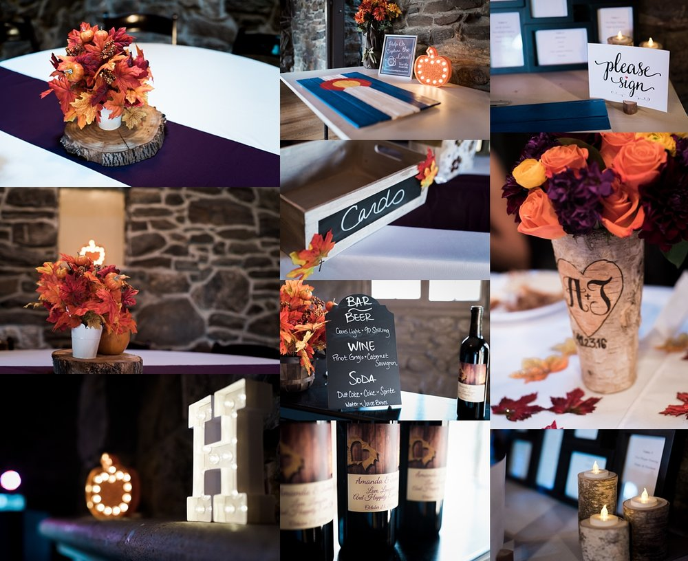 I love how Amanda and James incorporated all things Fall into their reception decor.