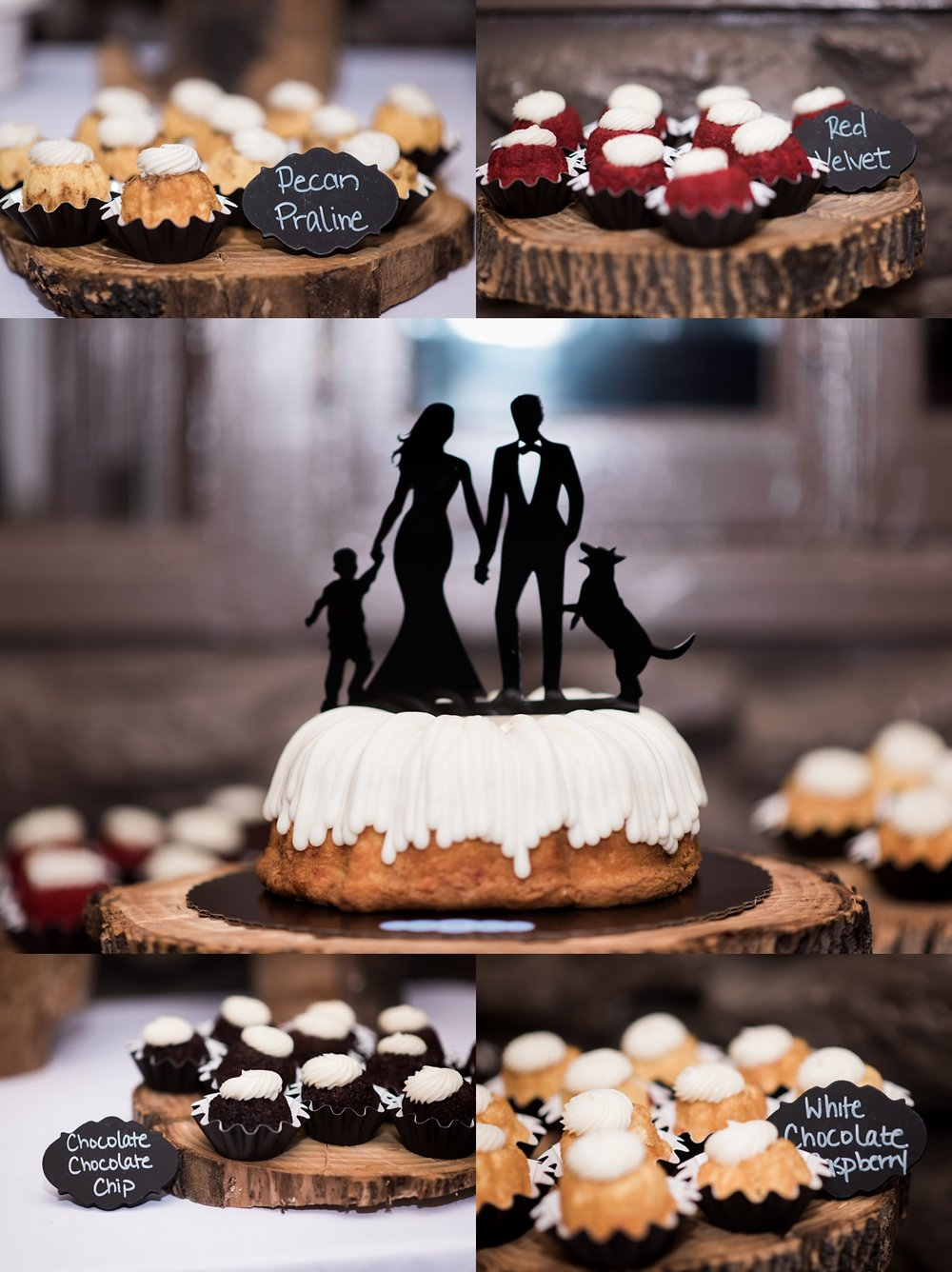 I loved that Amanda and James chose Nothing Bundt Cakes for their wedding cake. These were so delicious, too.