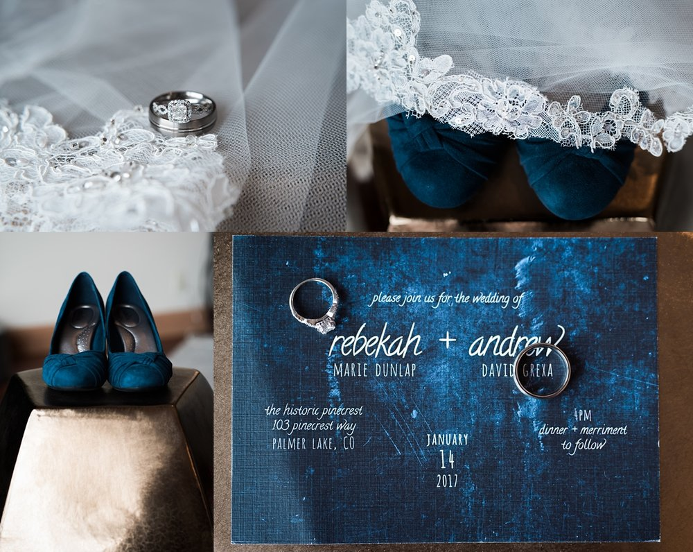 I loved how Rebekah's blue shoes match their invitations perfectly.