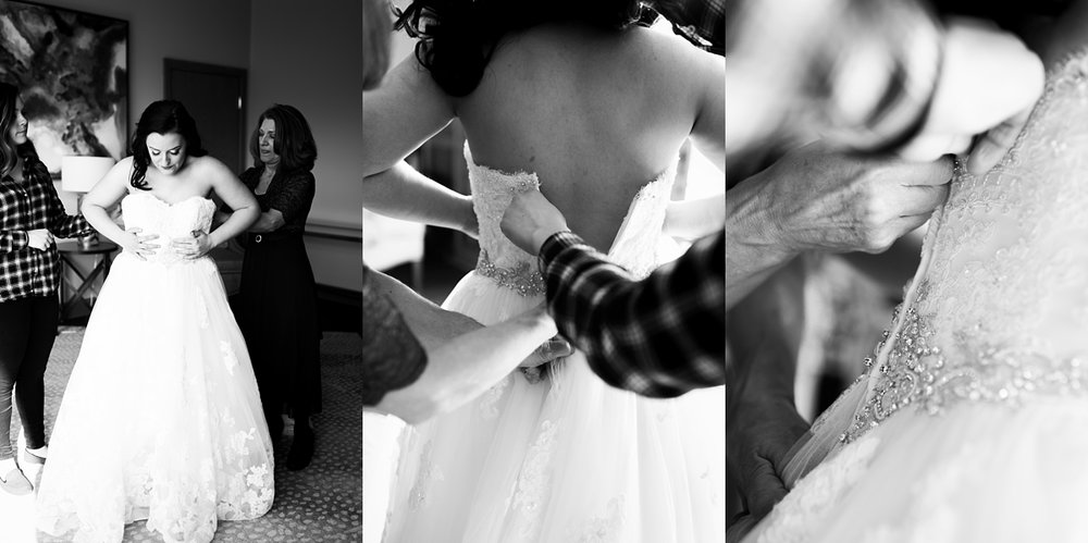 There is just something so incredible about the hands that zip you into your wedding dress.