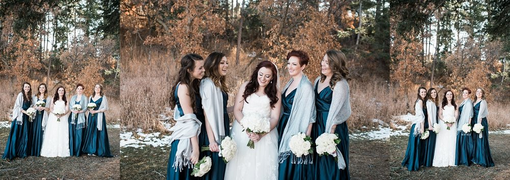 I loved the colors that Rebekah chose for her bridesmaids. They looked so great against the scenery!