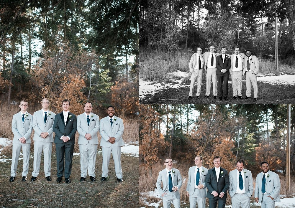 The groomsmen suits complemented the bridesmaids dresses perfectly, too.