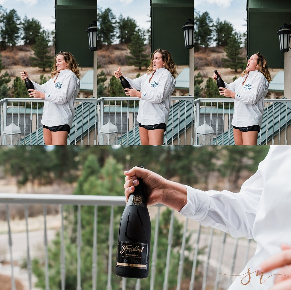 denver-wedding-photographer, cielo-at-castle-pines-wedding, popping-champagne