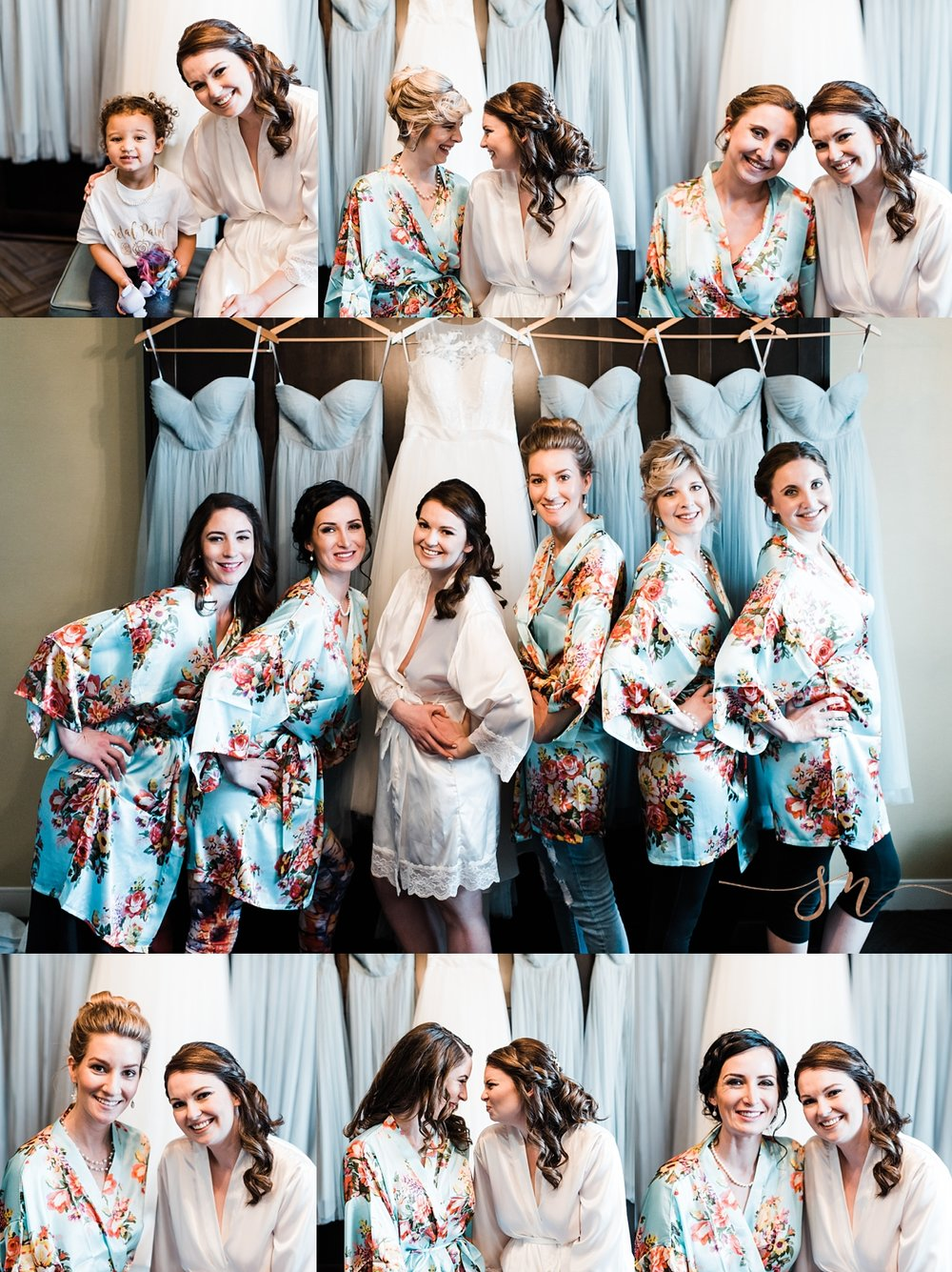 bridesmaids, floral-bridesmaid-gowns, denver-wedding-photographer