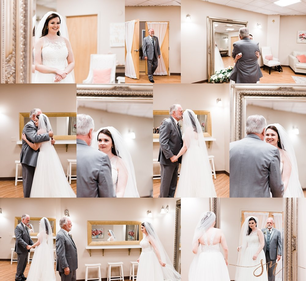 father-daughter-first-look, wedgewood-black-forest, colorado-springs-wedding-photographer