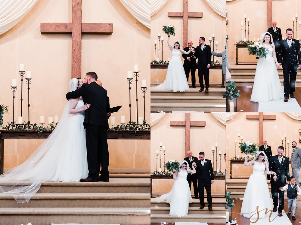 first-kiss, bride-groom-ceremony-bubble-exit, denver-wedding-photographer
