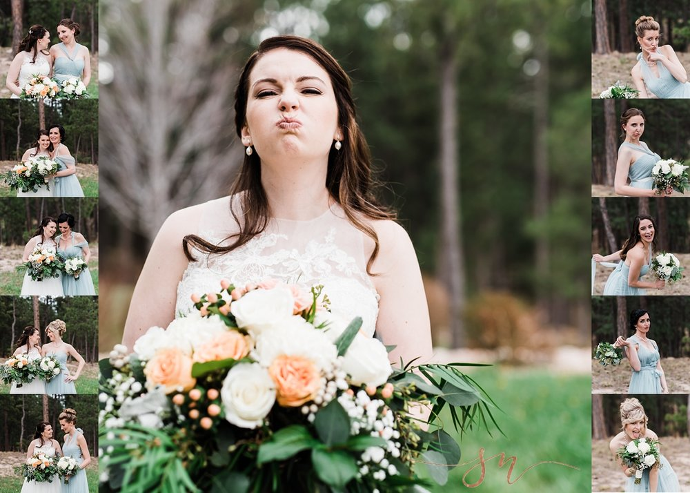 silly-bridal-party-photos, wedgewood-black-forest, denver-wedding-photographer