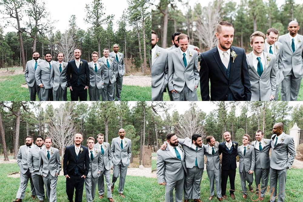groomsmen-photos, wedgewood-black-forest, denver-wedding-photographer