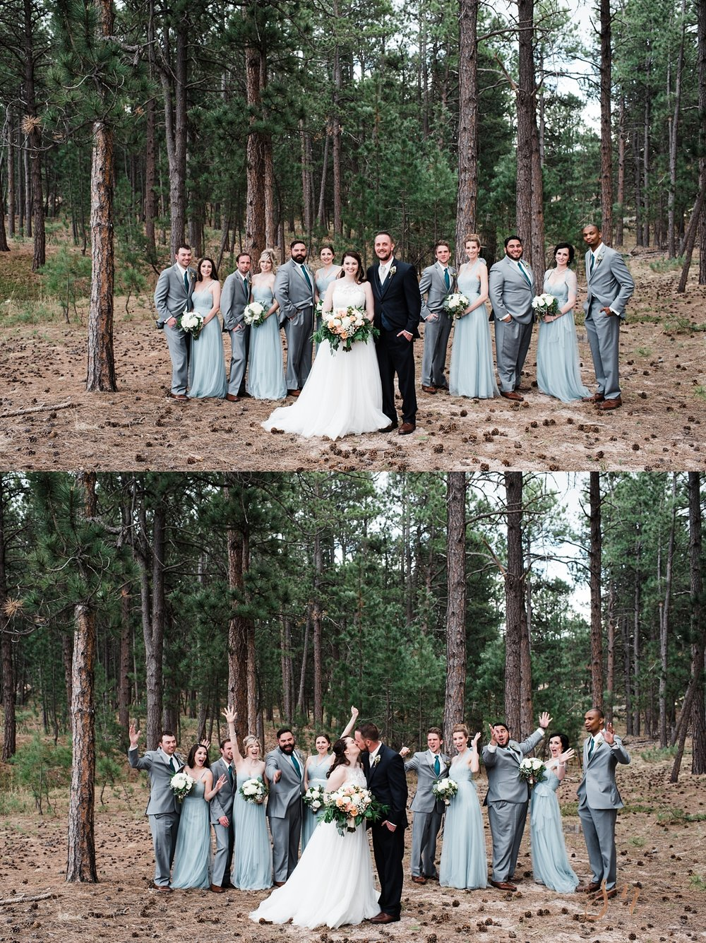 forest-wedding-party-photo, wedgewood-black-forest, denver-wedding-photographer