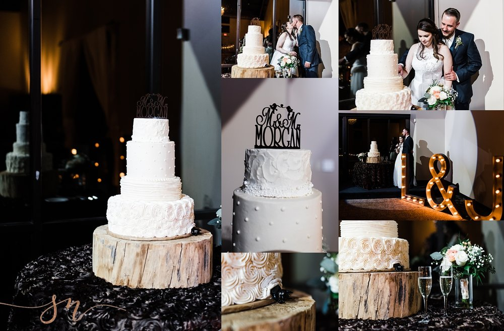 white-wedding-cake, wedgewood-black-forest-reception, marquis-lights, colorado-wedding-photographer