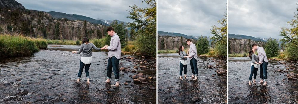 mountain-stream-engagement-photos, denver-wedding-photographer