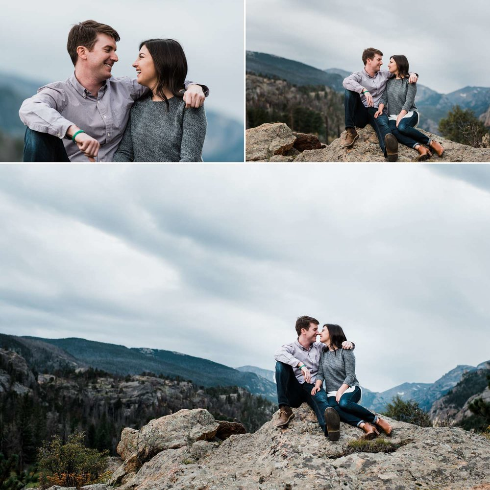 unposed-engagement-session, colorado-wedding-photographer, moraine-park
