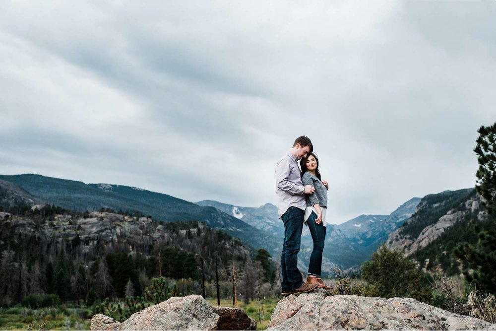 mountaintop-engagement-session, estes-park-portraits, denver-wedding-photographer