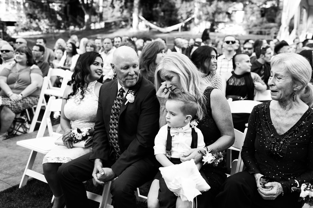 mother-of-the-bride, black-and-white-wedding-photography, emotional-moment