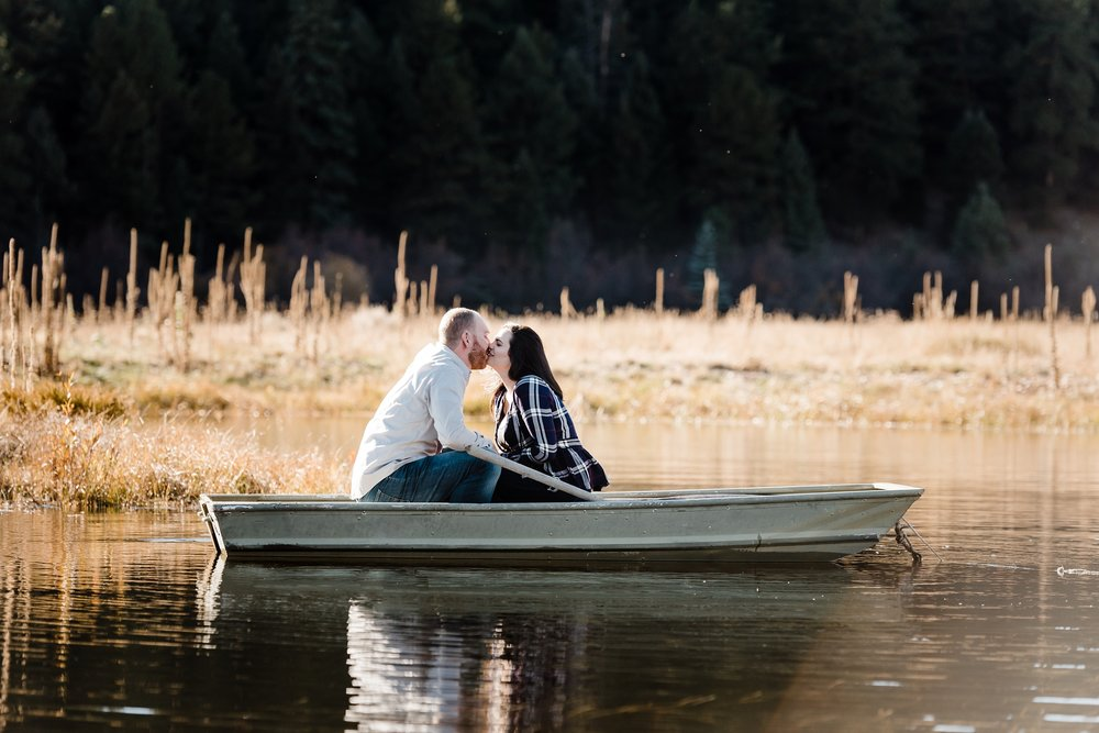 deer-creek-valley-ranch-engagement session, lake-couples-portraits, boat-engagement, colorado-mountain-wedding-photographer