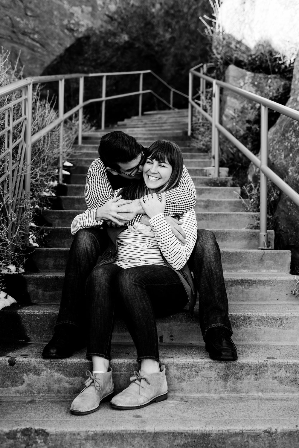 black-and-white-engagement-photography, red-rocks-park, denver-wedding-photographer