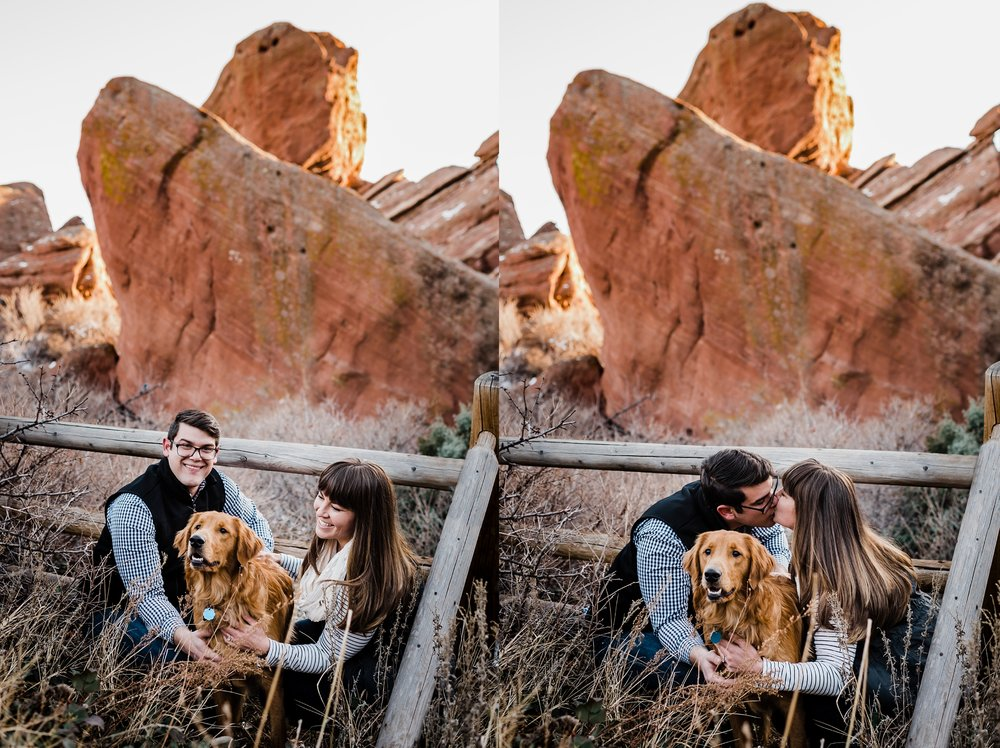 engagement-sessions-with-dogs, winter-red-rocks-couples-session, denver-wedding-photographer